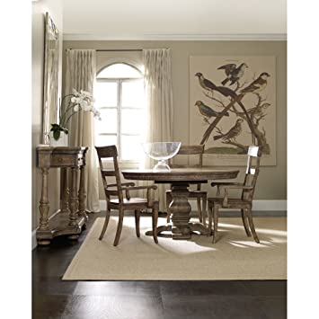hooker furniture round pedestal dining table leaf