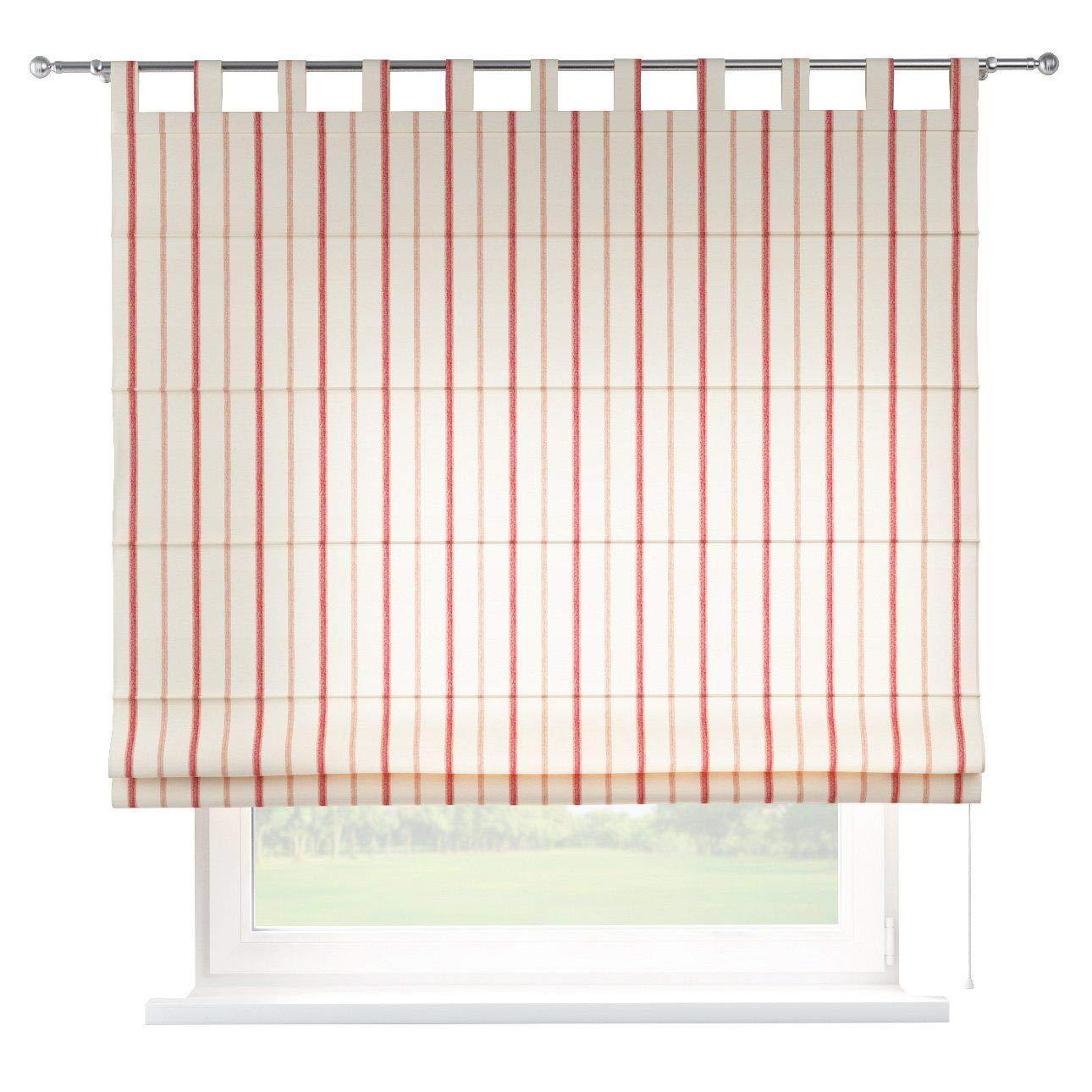Dekoria Raffrollo Verona ohne Bohren Blickdicht Faltvorhang Raffgardine Wohnzimmer Schlafzimmer Kinderzimmer 100 × 170 cm Creme- rot Raffrollos auf Maß maßanfertigung möglich