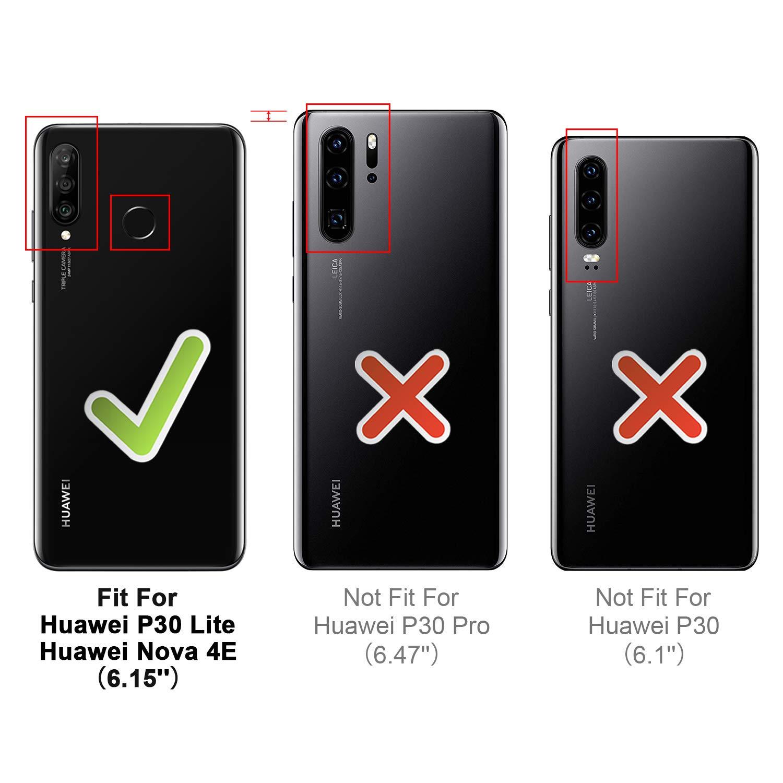 Schwarz HOOMIL Handyh/ülle f/ür Huawei P30 Lite H/ülle Premium Leder Flip Schutzh/ülle f/ür Huawei P30 Lite Tasche