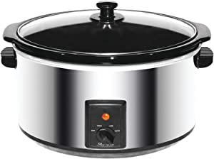 Brentwood Slow Cooker, 8 Quart, Stainless Steel