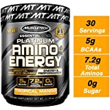 Pre Workout + BCAA Amino Acids | MuscleTech Amino + Energy | Preworkout Powder + BCAAs | Amino Acids Supplement…