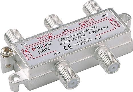 SAT Verteiler Splitter 5-2500MHz digital Kabel BK-Verteiler TV DVB-T HDTV UKW