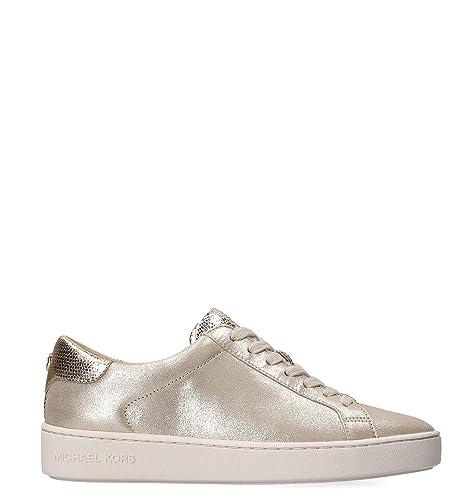 Michael By Michael Kors Mujer 43T8IRFS1M104 Oro Cuero Zapatillas: Amazon.es: Zapatos y complementos