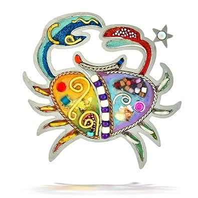The Artazia Collection Seeka Sensitive Cancer The Crab Zodiac Pin P0904
