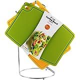 シリコーンまな板、Liflicon [クッキングエキスパート]FDA LFGBによる認定、食品グレードのシリコーン、抗菌熱 カラー 37×26.5×厚さ0.5cm (グリーン Lサイズ)