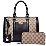 Women Handbag,Women Bag, KINGH Vintage PU Leather Shoulder Bag Purse 2 PCS Set Bag 089