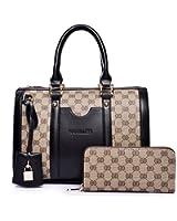 Women Handbag,Women Bag, KINGH Vintage PU Leather Shoulder Bag Purse 2 PCS Set Bag 089