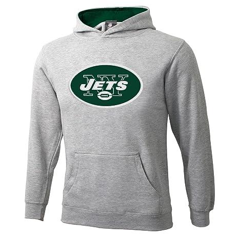 Outerstuff NFL New York Jets 8 – 20 jóvenes Gris Sportsman Sudadera con Capucha para Hombre