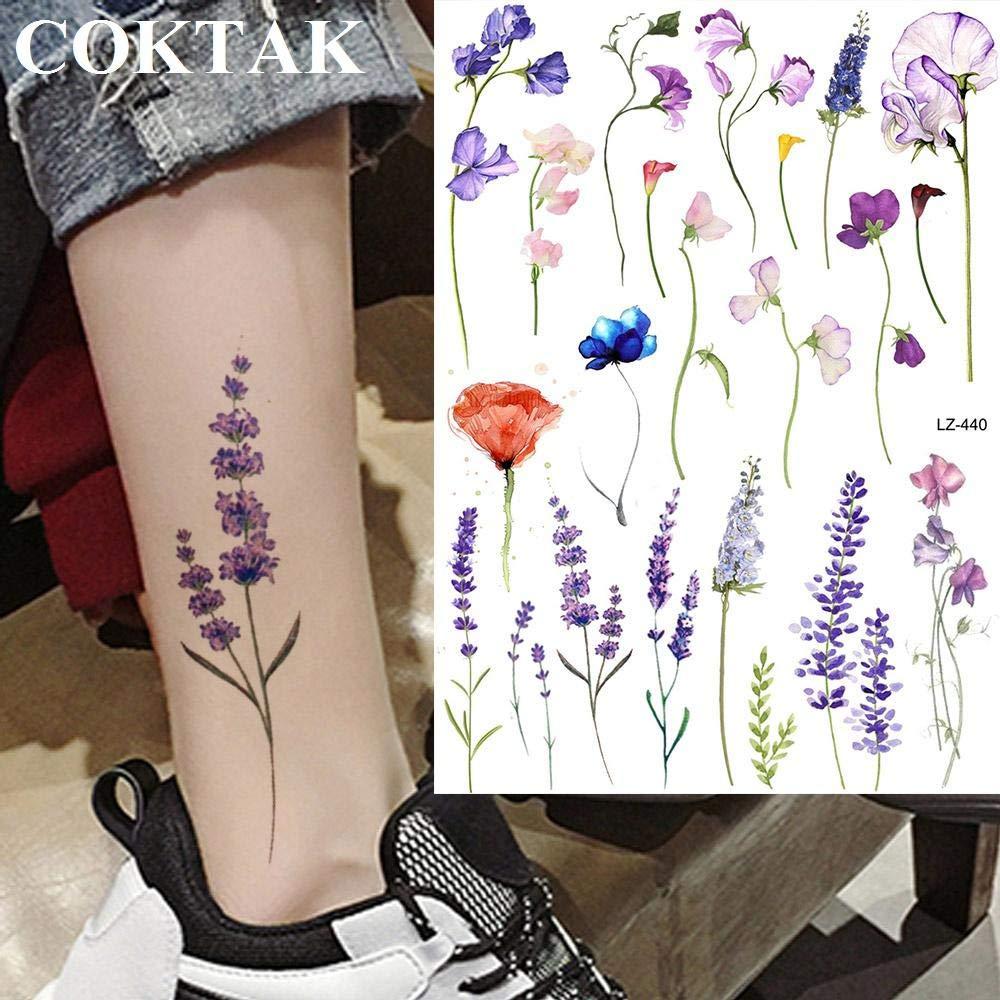 Acuarela Lavanda Reed Morning Glory Tatuajes de flores Mujeres ...