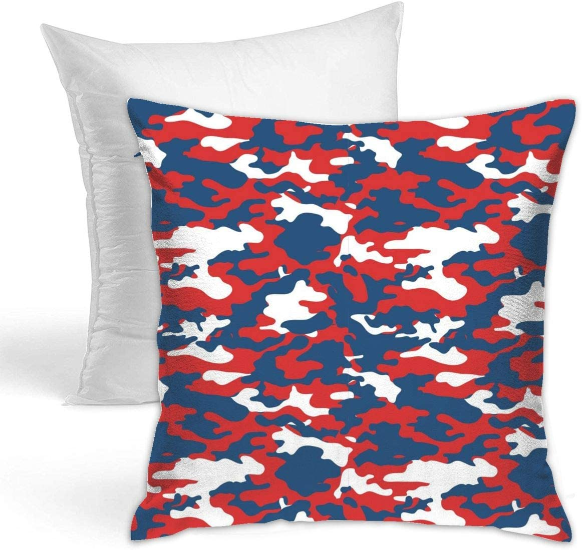 Amazon Com Doobey Red White Camouflage Polyester Decorative Square Throw Hold Pillow Hold For Sofa Bedroom Car Home Decor 18 X18 45x45cm Home Kitchen