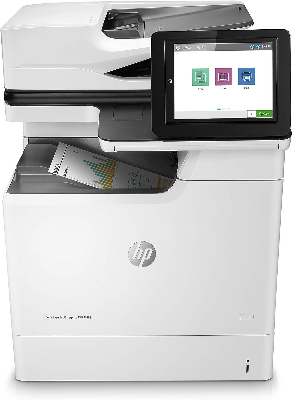HP Color Laserjet Enterprise MFP M681dh Duplex Printer (J8A10A), White (J8A10A#BGJ)