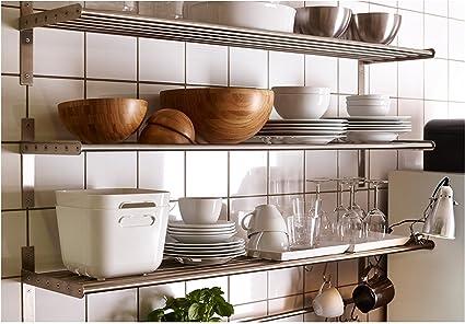 IKEA GRUNDTAL – estante de pared/carril: Amazon.es: Hogar