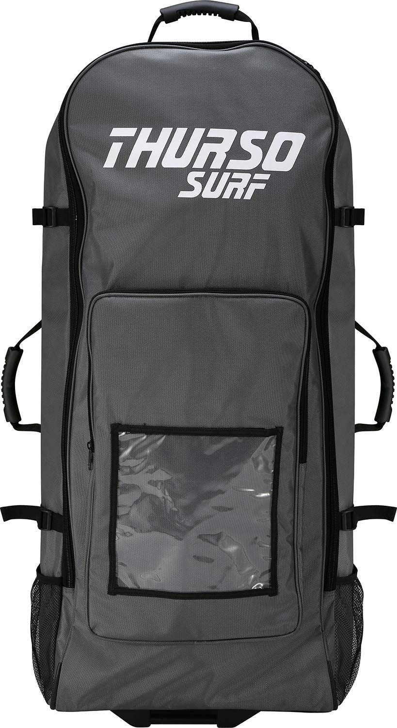 THURSO SURF Inflatable Paddle Board Carrying Bag SUP Roller Backpack Fits Any iSUP Up to 12'6 and Accessories Super Durable Comfortable Convenient