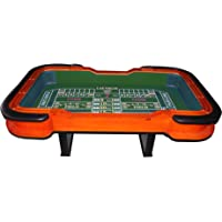 """IDS 93"""" Craps Table with Diamond Rubber - Green"""