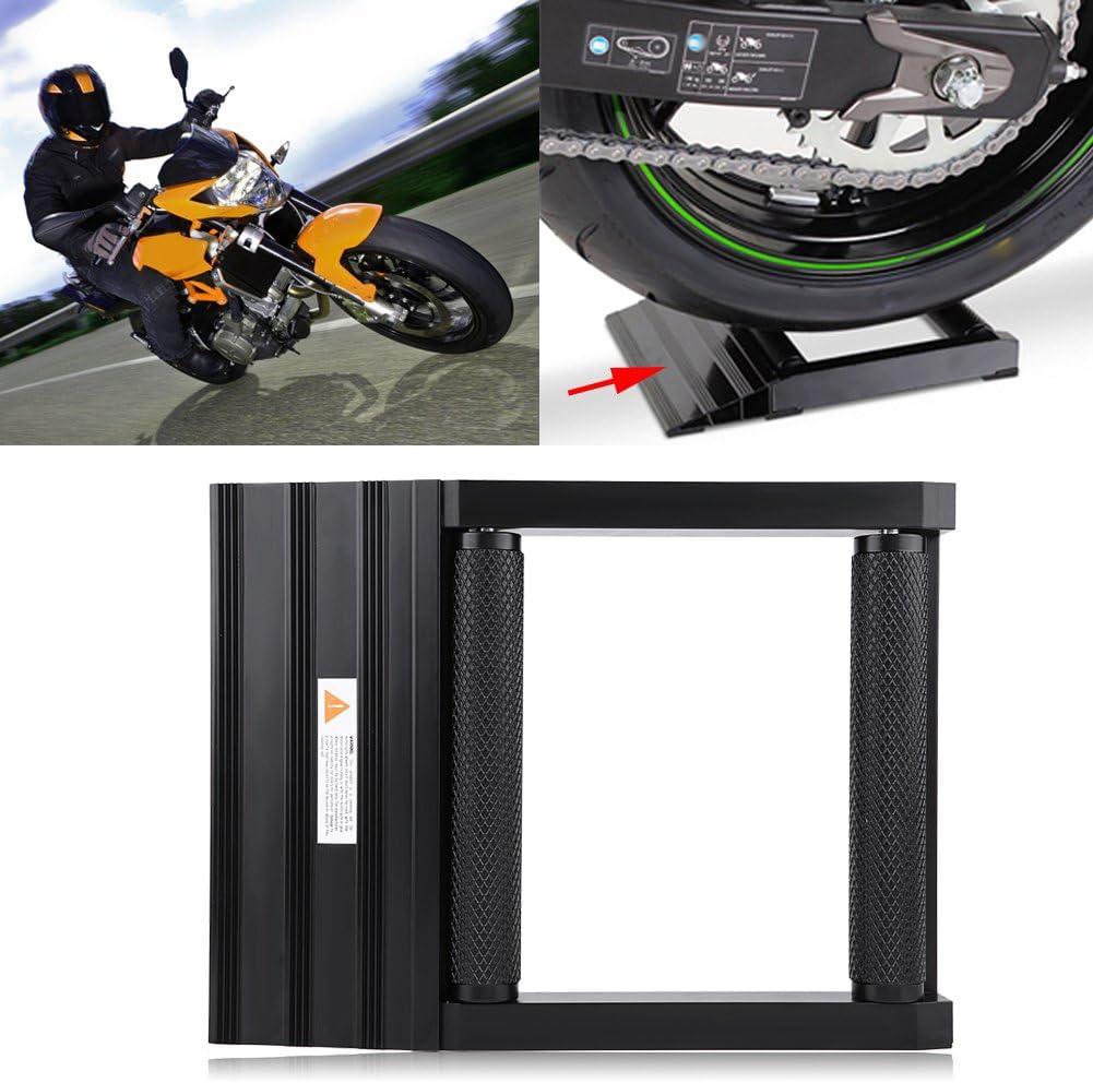 400 kg f/ür Reinigung Vorderrad und Schmierung der Ketten Motorradst/änder aus Aluminium Max