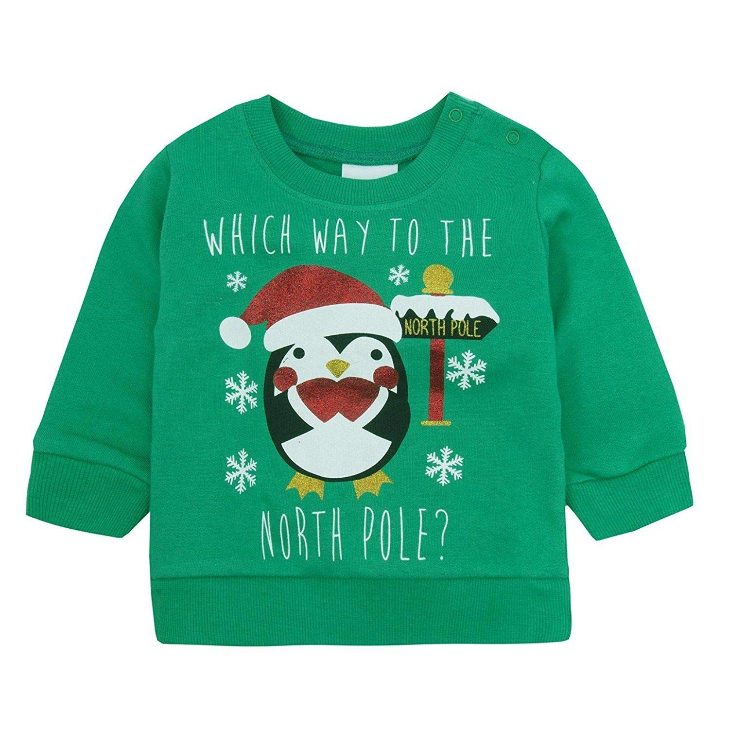 Baby Christmas Sweatshirt Jumper. Ages 6 to 24 Months
