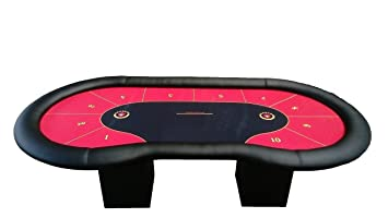 Newpokertable. mesa de poker roja de 244x122cm de alta calidad y ...