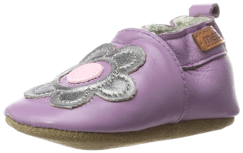Melton Baby Girls' Krabbelschuh Blume Aus Weichem Leder Slippers 400111