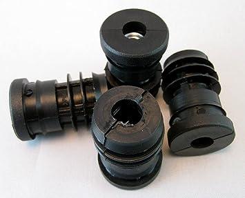 M8 Metal roscados Insertos de tubo redondo de plástico de 25 mm de tubo ajustable pies ruedas: Amazon.es: Bricolaje y herramientas