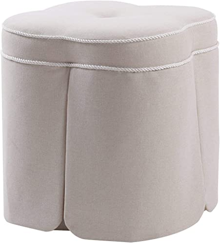 Jennifer Taylor Home Serina Ottoman, Sky Neutral
