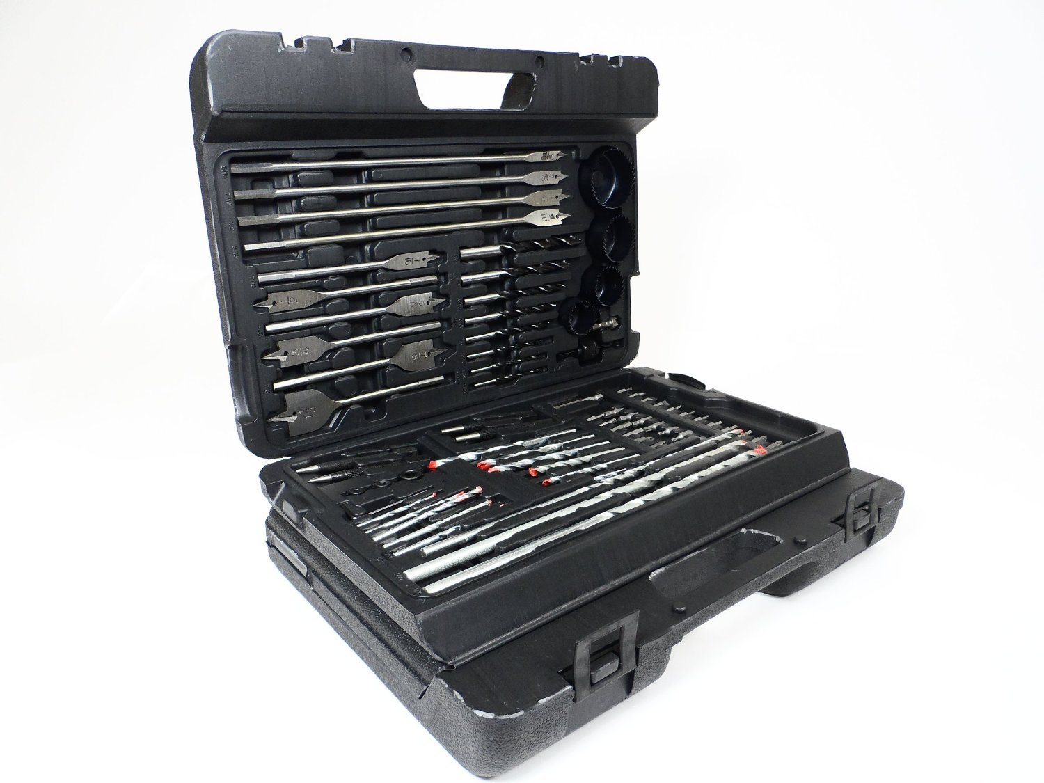 Complete Wood Working Drill Bit Set Professional Combination of Most Common Dril Bits 204 Piece Kit
