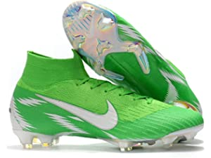 587c19be7b8 High Ankle Men s Mercurial Superfly VI 360 Elite FG Soccer Cleats Green  White