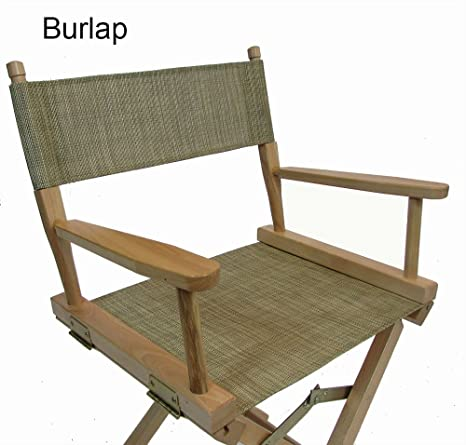 Mesh Directors Chair Replacement Cover (Round Stick) (Burlap)
