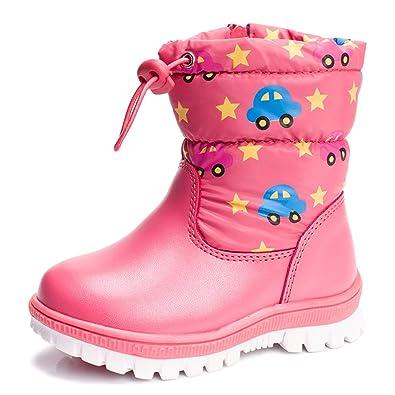 O&N Kinder Stiefel Winterstiefel Wasserdicht Schuhe Stiefel Winter Schuhe Kurz Stiefel Für Mädchen eGDPQEMeBn