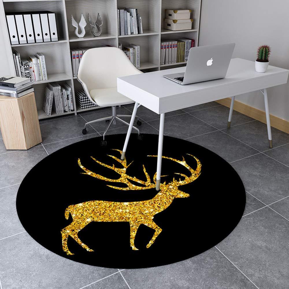 LYJ Teppich Kreative Runde Glänzende Glänzende Glänzende Rotwild Dekorative Teppich Home Wohnzimmer Schlafzimmer Studie Rutschfeste Matte B07LDLTNQ5 Teppiche d14857