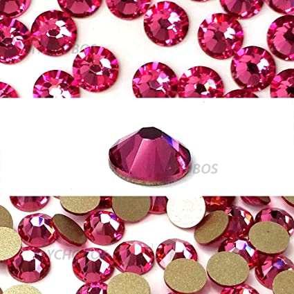 07a62a23f Image Unavailable. Image not available for. Color: ROSE (209) pink Swarovski  NEW 2088 XIRIUS Rose 20ss 5mm flatback No-Hotfix