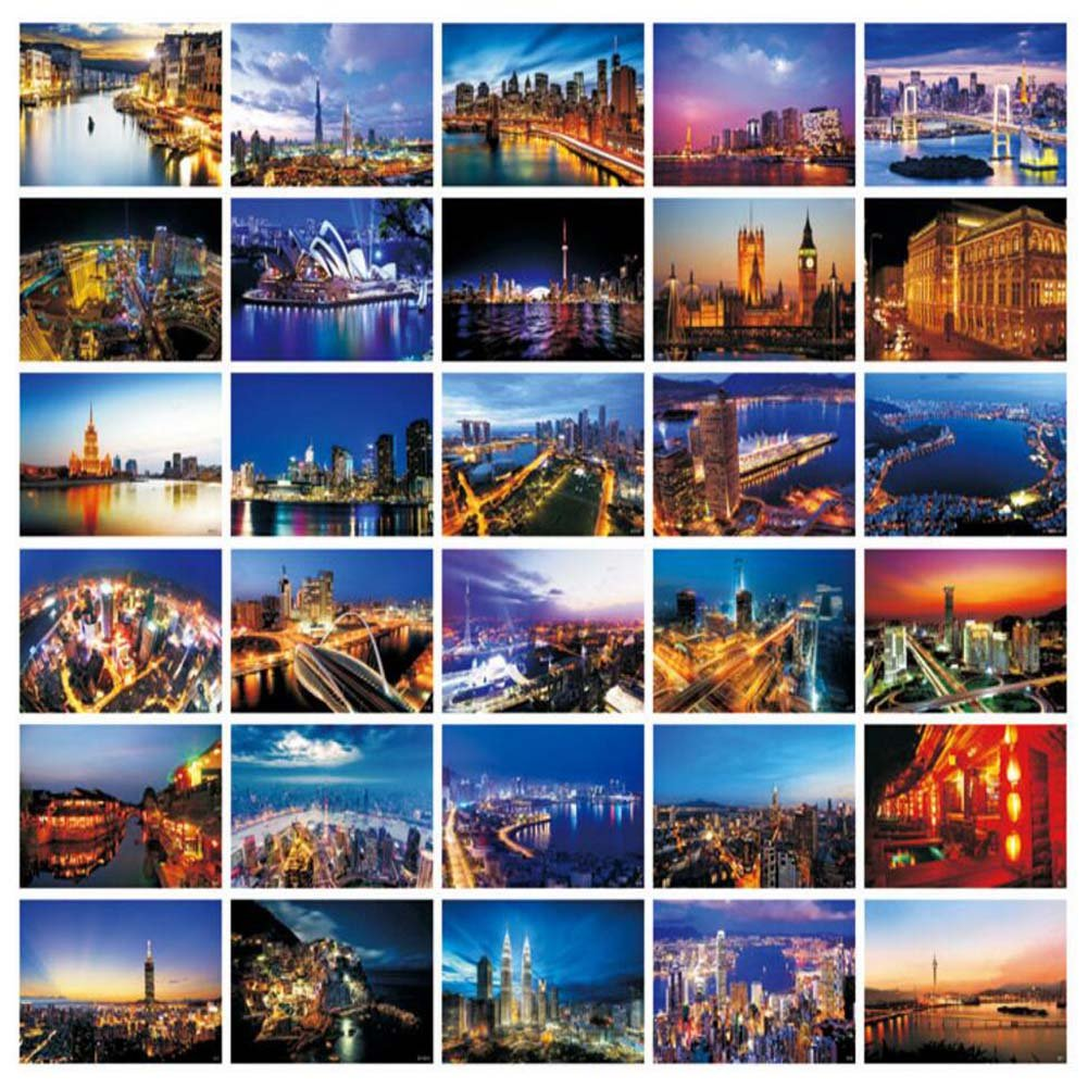 Beautiful World Travel Scenery 30 PCS Artistic Retro Postcards- D4 Dragon Sonic