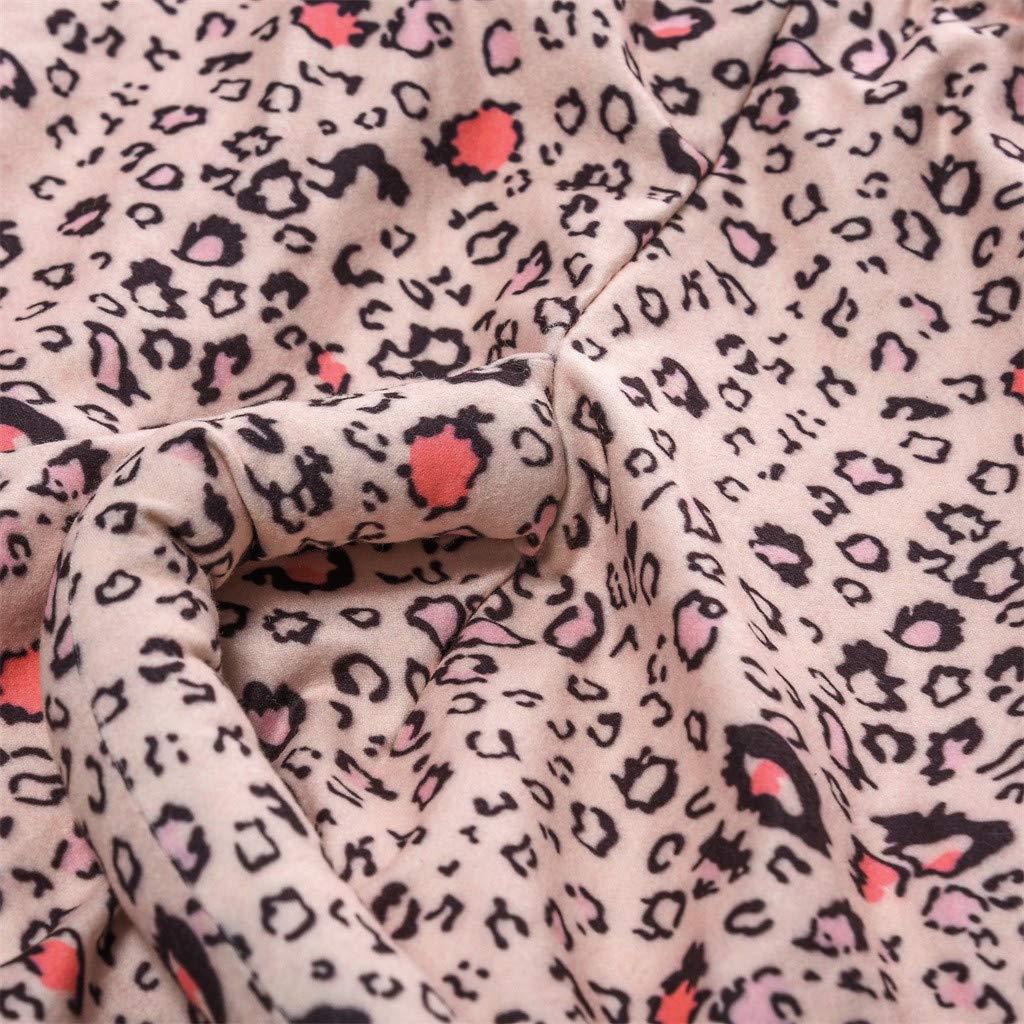 Sunsuit Toddler Girl,Newborn Kid Baby Girls Leopard Print Romper Jumpsuit Hat Outfits Set,Baby Boys Bodysuits,Pink,90
