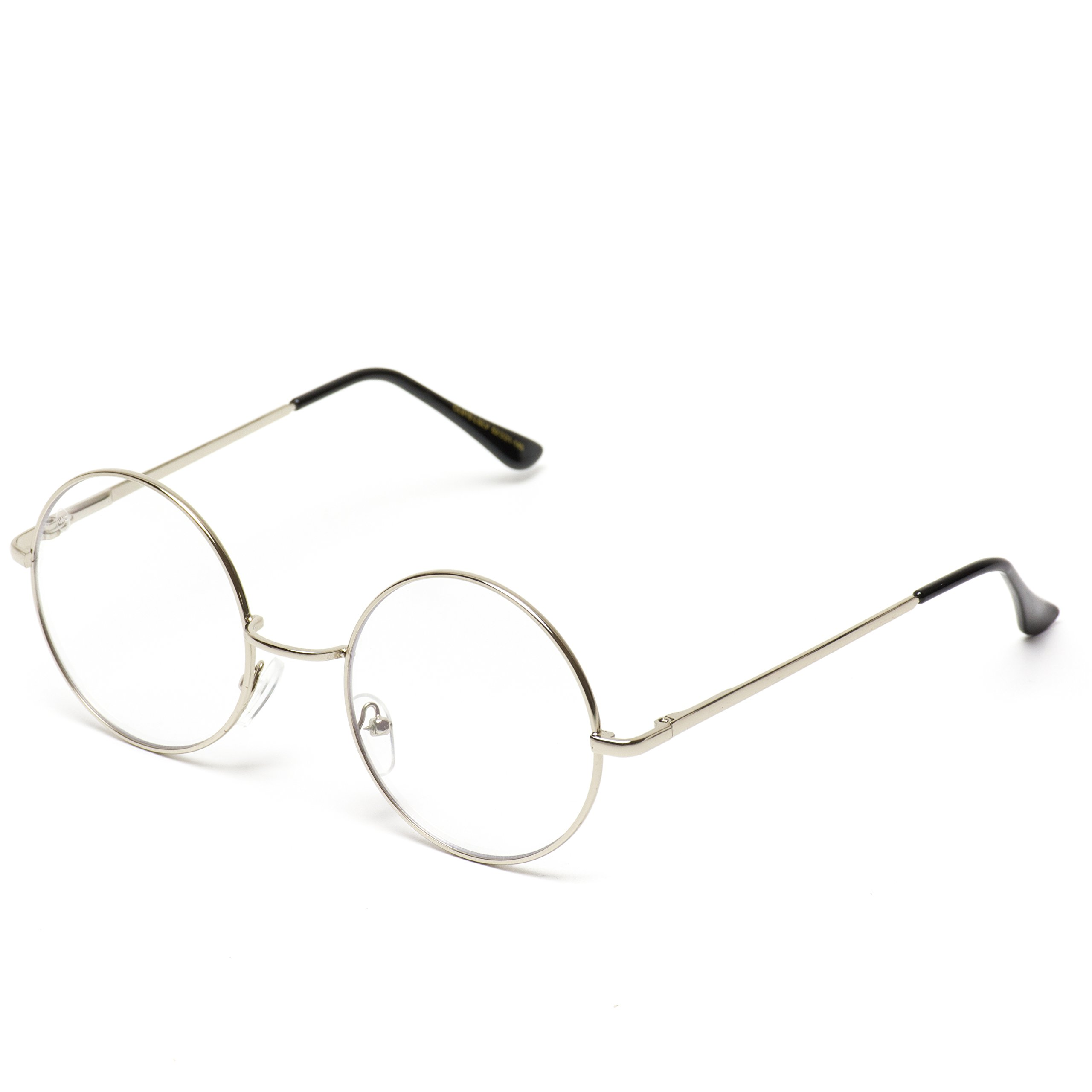 75091ee0bf2a Round Clear Metal Frame Glasses