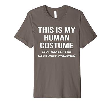 mens human costume im the loch ness monster shirt halloween tee 2xl asphalt