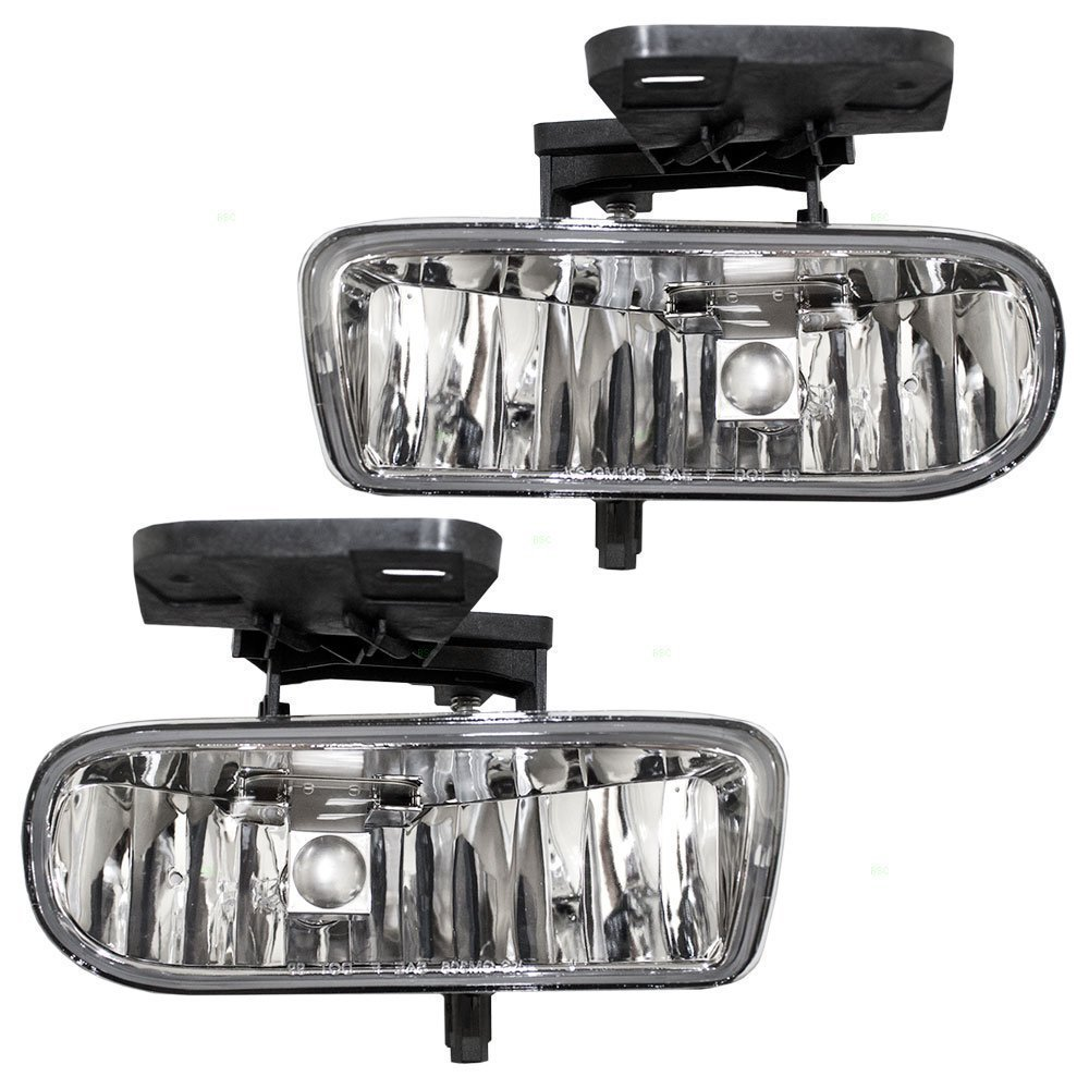 Avec Brand 99-02 Silverado 1500 2500 OES clear fog lamp lights replacement pair set 1999 2000 2001 2001 UMS FLCS99C-1