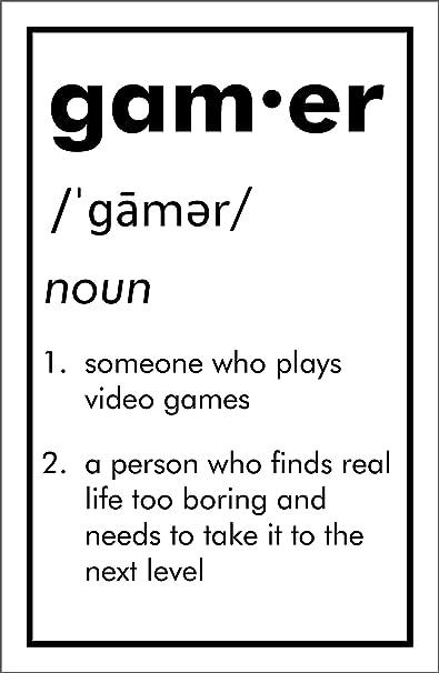 9b80dc11c83e Amazon.com  Damdekoli Definition Gamer Poster