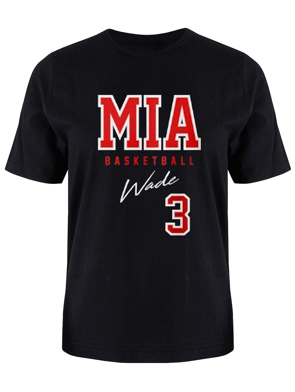 Sports Lover Miami Wade Black Basketball Fan Shirt