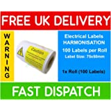 Phenomenal Mixed Pack Of 120 Electrical Safety Stickers Labels 24 Of Each Wiring Digital Resources Inamasemecshebarightsorg