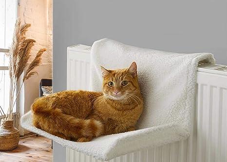 Vinsani Cama para radiador de mascotas para gatos y perros, suave ...
