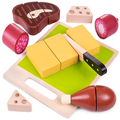 Delicious Deli Slicing Playset | Chop, Slice, and Serve Up Some Fresh Cuts | Includes Cuttable Meat, Cheese, And Other Tasty Food | Helps Refine Motor Skills and Teaches Concepts of Parts and Wholes: Toys & Games