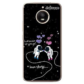 Dakanna Funda Para Motorola Moto E4 Plus Astronautas Frase