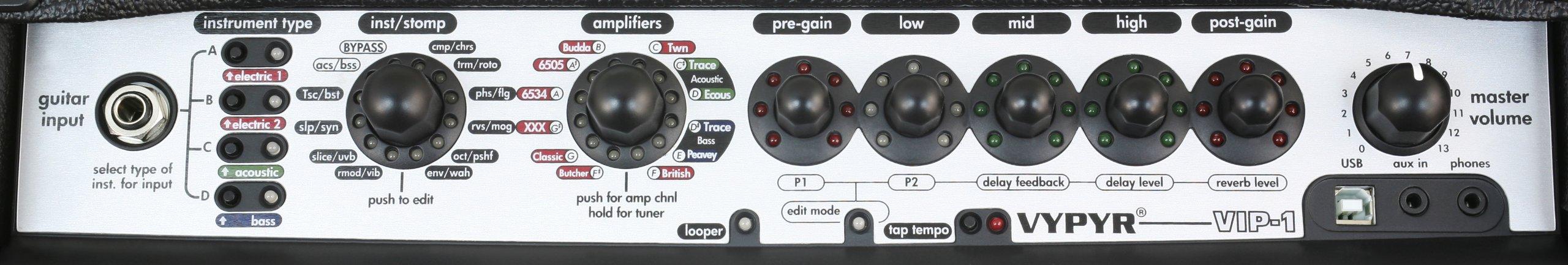 Peavey Vypyr VIP 1 - 20 Watt Modeling Instrument Amplifier by Peavey