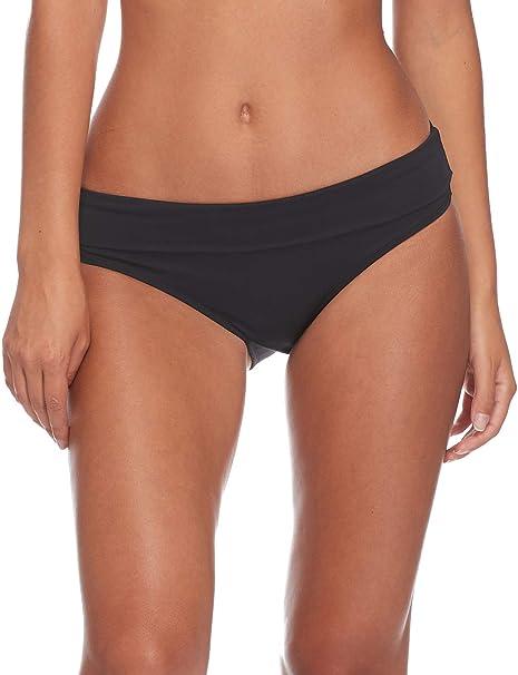 d90a150a57 Esky Skye Women's So Soft Mid Waist Foldover Bikini Bottom, Black, Small