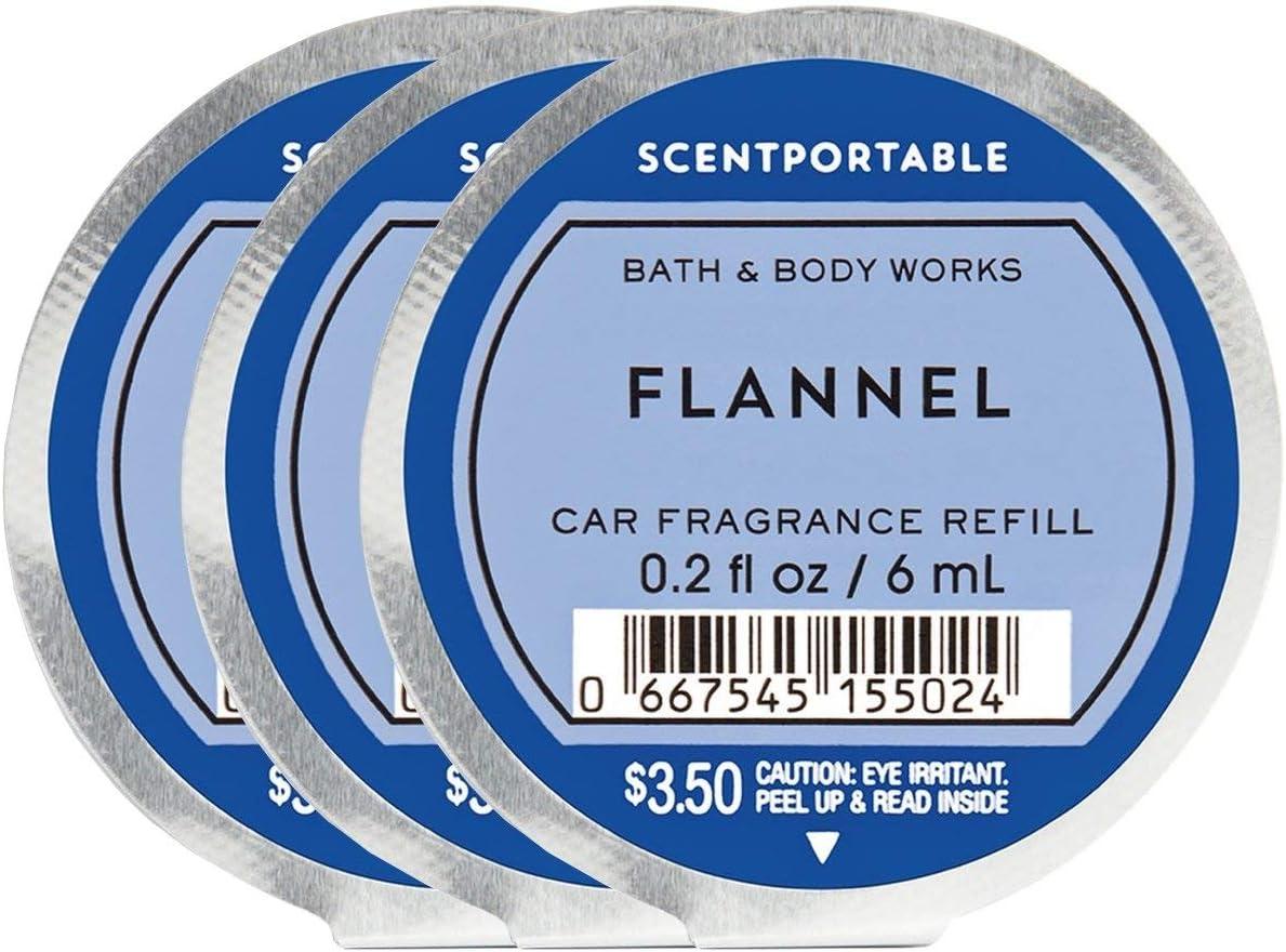 Bath & Body Works Flannel Scentportable -- Set of 3 Scentportable Refill Discs