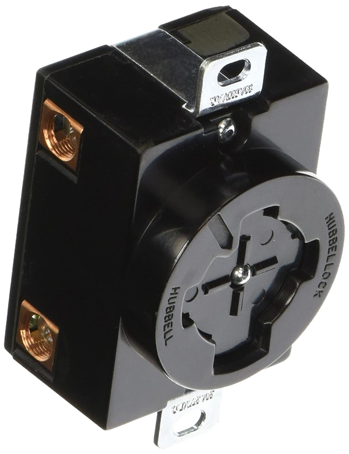 Hubbell HBL20403 Hubbellock Receptacle, 30 amp, 600V, 3 Pole 4 Wire ...