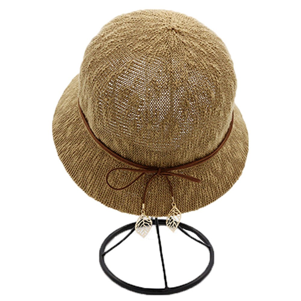doublebulls hats Bucket Hat Cloche Hat Ladies Girls Bowknot Outdoor Beach Summer Sun Hat DH1171I