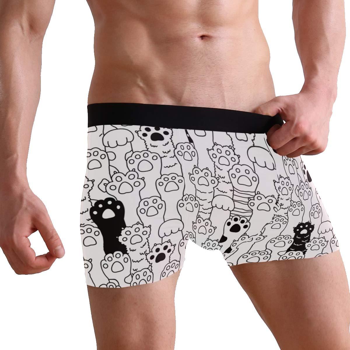 Cat Feet Comfortable Mens Boxer Briefs Multi-Size Soft Underwear S