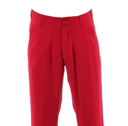 Details zu Rote Herren hose mit Extraweit geschnittene Beine, im Stil der 50er Jahre Boogie
