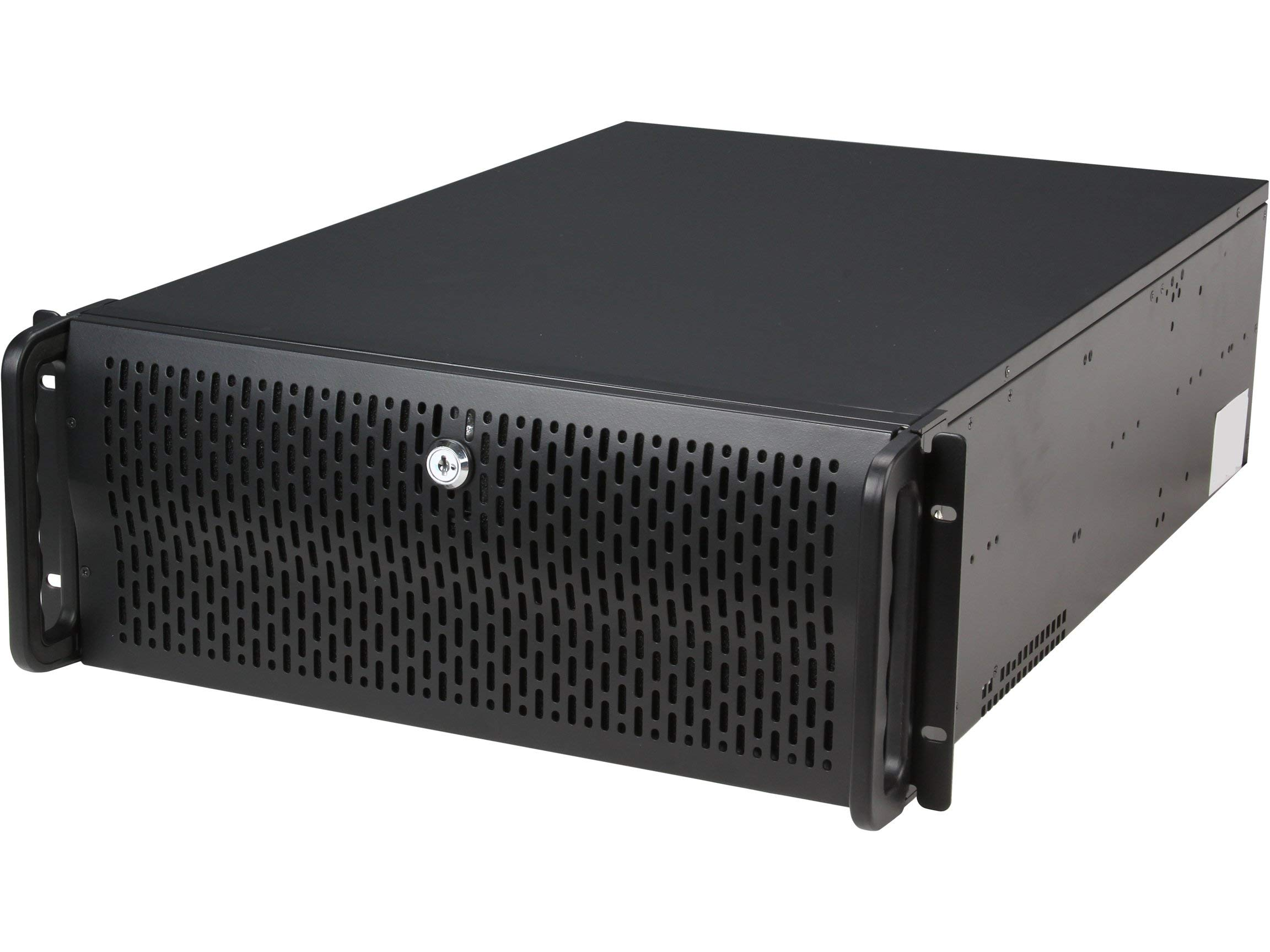Rosewill 4U Server Chassis/Server Case/Rackmount Case, Metal Rack Mount Computer Case with 12 Hot Swap Bays & 5 Fans Pre-Installed (RSV-L4412) (Renewed)