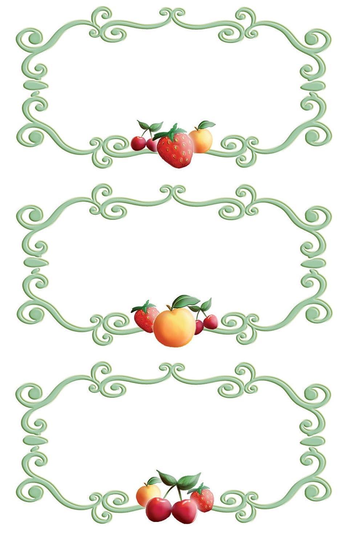 Favoloso Avery Zweckform 59898 - Etichette per barattoli e libri, cornici  OM22